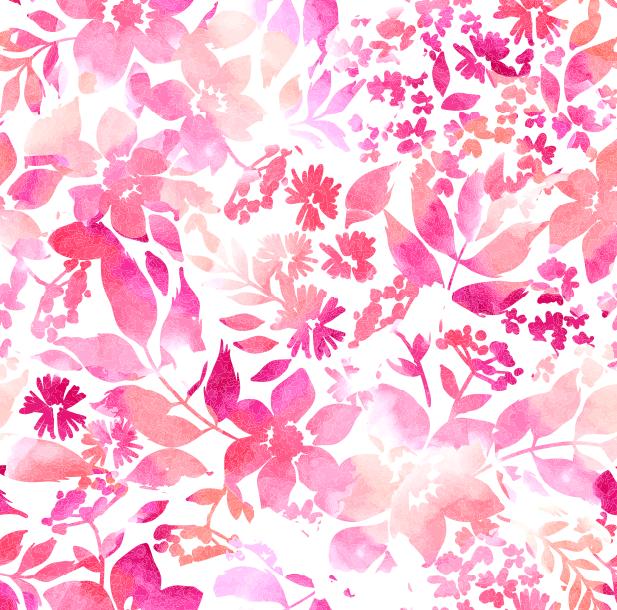 Акварельный цветочный ковер