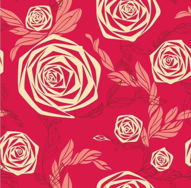 желтые розы на красном фоне